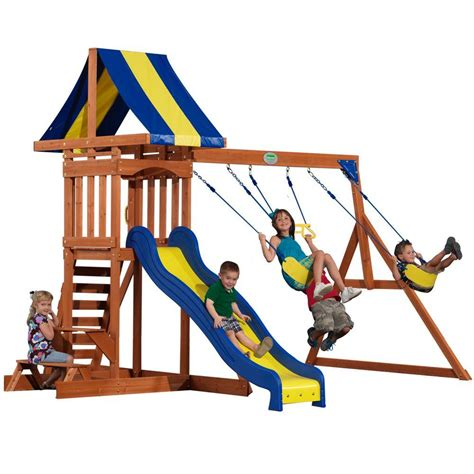 home depot swing set kit backyard discovery providence all cedar playset 40112com