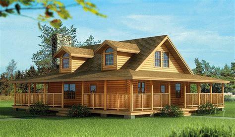 log homes  wrap  porch plan wnd eklmont