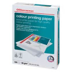 Office Depot Color Copies Office Depot Color Printing Printing Paper A4 90gsm White