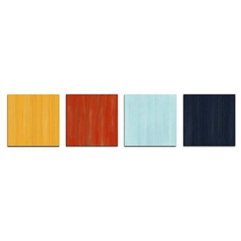 nautical colors hot and cold abstract metal wall art in nautical colors