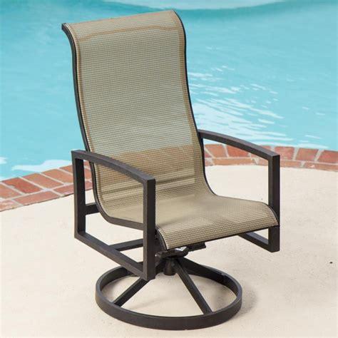 Furniture: Hampton Bay Statesville Padded Sling Swivel