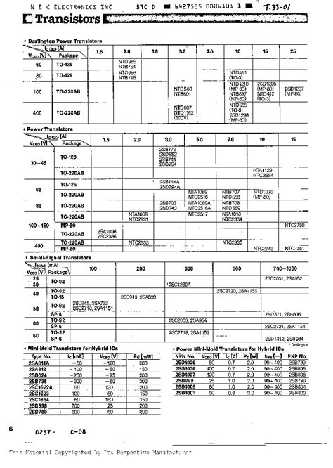 transistor equivalent book ebook 2sc945 263853 pdf datasheet ic on line
