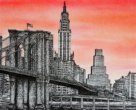 bridge drawing by rob dumont