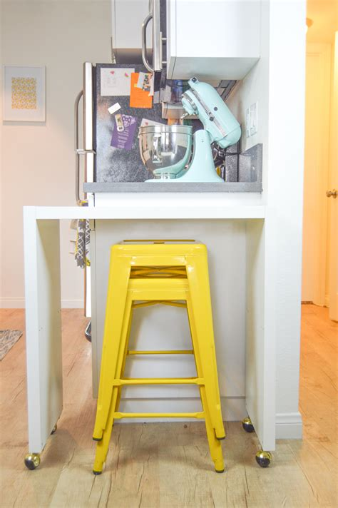 diy rolling kitchen island or bar ikea hack club crafted