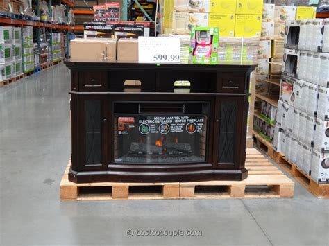 fireplaces electric costco media mantel infrared fireplace