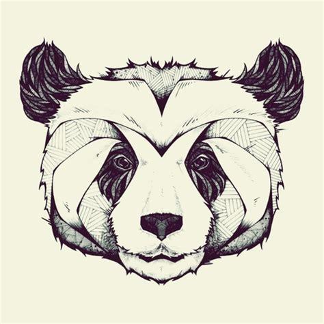tattoo panda geometric geometric panda tumblr draw pinterest panda