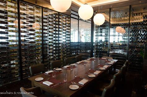 Dinner Table Lighting by Zafferano Restaurant Bar Lounge Singapore Asia Bars