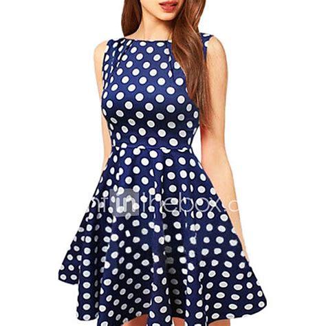 Dot Dress s black blue polka dots swing dress 1393899 2016 7 99