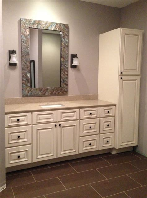 bathroom vanity and linen cabinet home design ideas