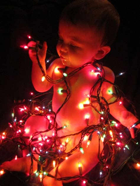 baby madison tangled in christmas lights baby pinterest
