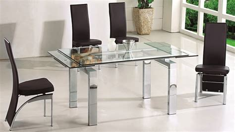 expandable dining room table sets glass dining room table sets casabianca home geneva collection steel glass dining table