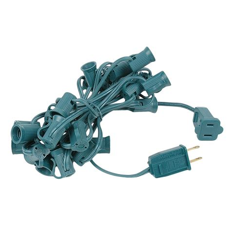 12 5 green c7 christmas light cords with 25 sockets