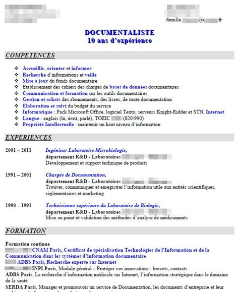 Modèle Présentation Cv by Resume Format Presentation Cv Classique