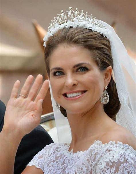 prinzessin madeleine hochzeitsfrisur tiaras para novia si 233 ntete como una princesa