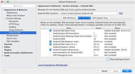 android sdk versions i cannot found sdk tools in android studio stack overflow
