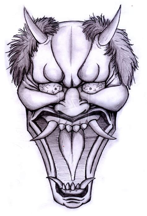 hannya mask tattoo design hannya mask sketch by pibu on deviantart