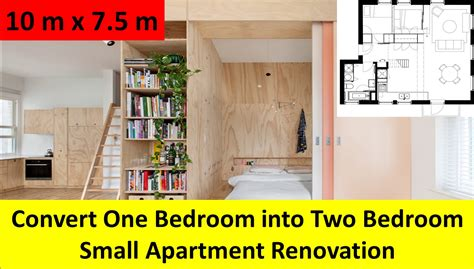 how to turn a small bedroom into a dressing room convert one bedroom into two bedroom small apartment