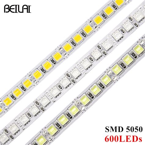 Jual Led Smd Bright beiyun ultra bright dc 12v rgb led 5050 smd 5m 600led not waterproof fita led light