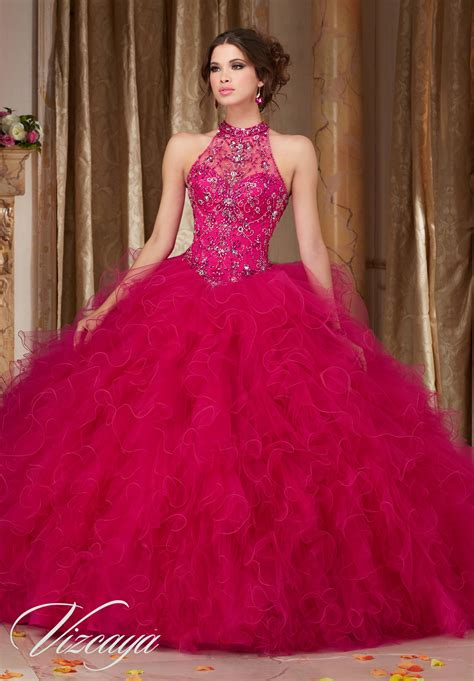 Quinceanera Dresses by Ruffled Tulle Quincea 241 Era Dress Style 89103 Morilee