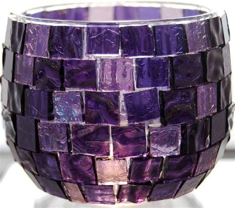 Purple Candle Holders Purple Mosaic Candle Holder