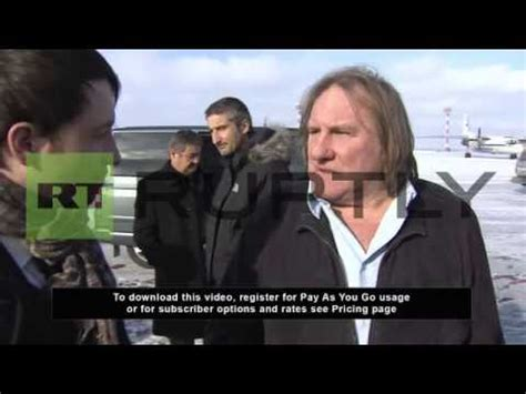 gerard depardieu is russian russia french actor gerard depardieu is officially a