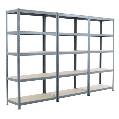 3x new 5 shelf 71 quot hx36 quot wx18 quot d gray garage metal steel