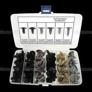 automotive fir tree retainers 130 auto push pin fir tree type retainer assortment plastic fasteners ebay