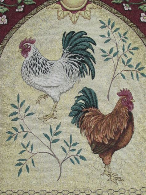 country rooster lot detail country rooster wall tapestry