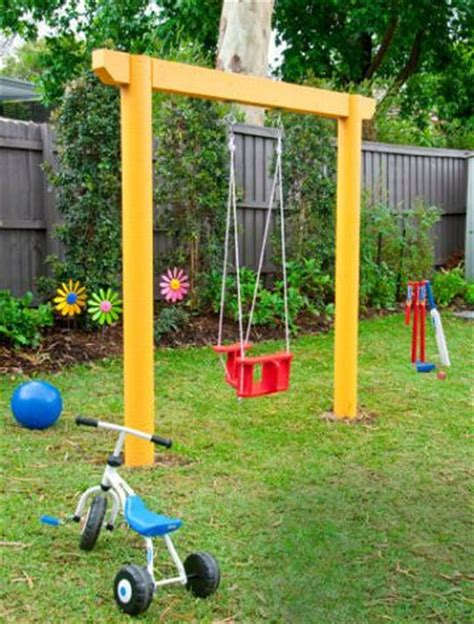 diy backyard swing set diy single swing set randomness pinterest