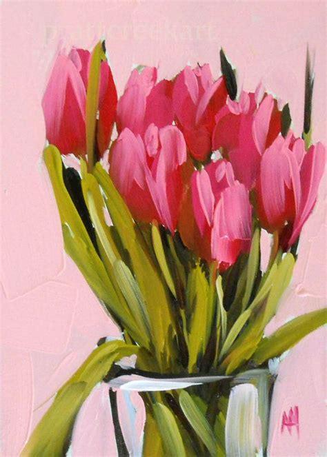 tulip painting ideas  pinterest parrot tulip