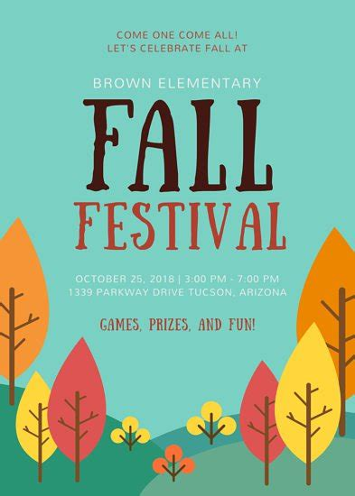 School Fall Festival Flyer Templates By Canva Fall Festival Flyer Template