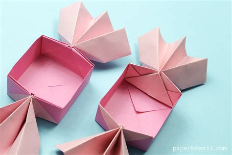 Origami List Of Things - origami box lid paper kawaii