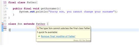 java tutorial final keyword how to use final keyword in java exles java67