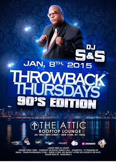 throwback thursday s day edition throwback thursdays the 90 s edition the attic thursday january 8 2015 171 bomb club