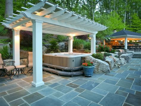 backyard designs with hot tub hot tub patio ideas back yard hot tub landscaping hot tub