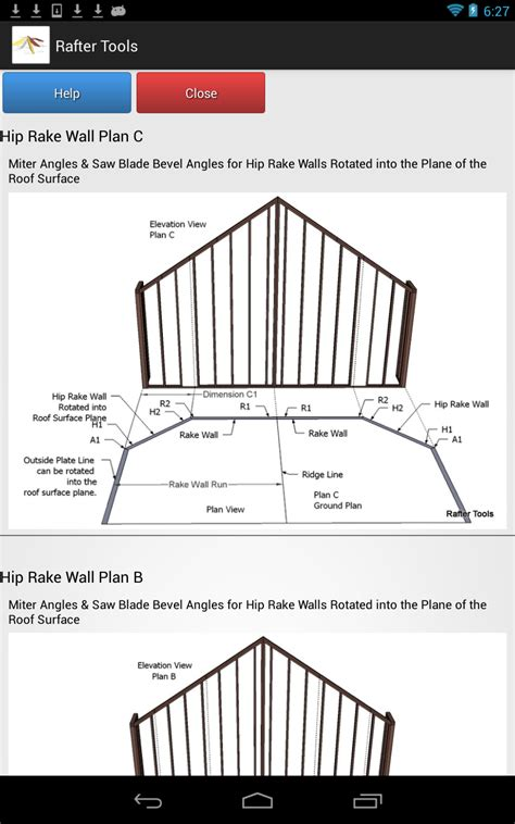 Hip Roof Calculator Roof Framing Geometry Rafter Tools For Android Version 2 57
