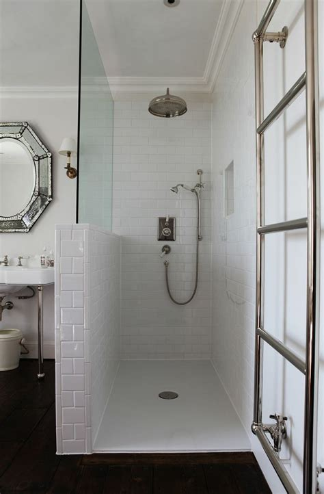 bathroom partition ideas the half wall tiled in a subway classic bathroom