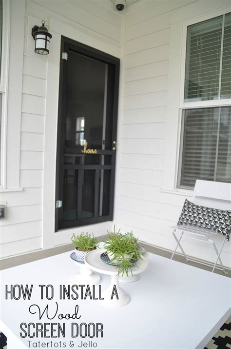 How To Hang A Screen Door by Images Of How To Install A Wooden Screen Door Woonv