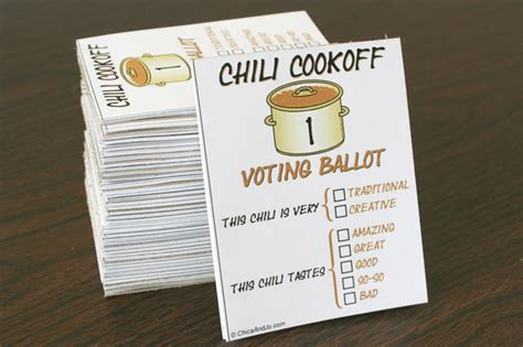 voting card template how to host a chili cook chica and jo
