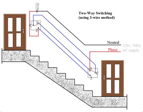 staircase wiring circuit diagram 2 way switch wiring
