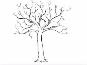 How to draw easy trees sketch coloring page