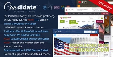 themeforest nonprofit themeforest candidate v3 2 political nonprofit church
