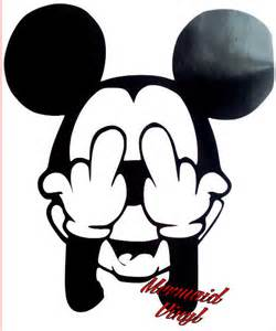 Mickey And Minnie Mouse Home Decor by Vinyl Sticke Decal Mickey Mouse Disney Rude Swearing Wall