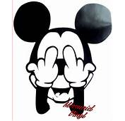 Mickey Mouse Disney Rude Swearing Wall Car Art Minnie Donald EBay