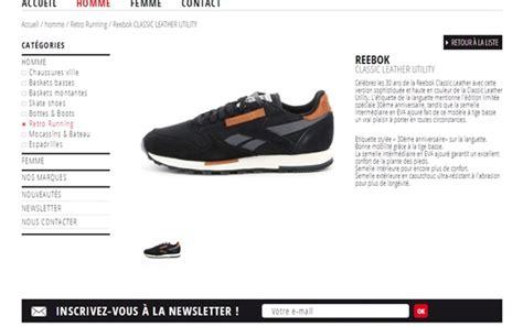 cr 233 ation site web textile site catalogue chaussures