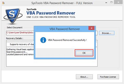 reset vba password proxoft vba password recovery software to open unlock protected