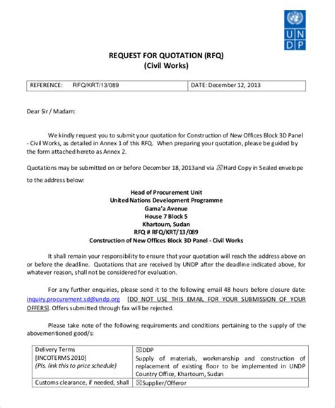 cover letter for civil work quotation cover letter for civil work quotation 28 images 41 sle