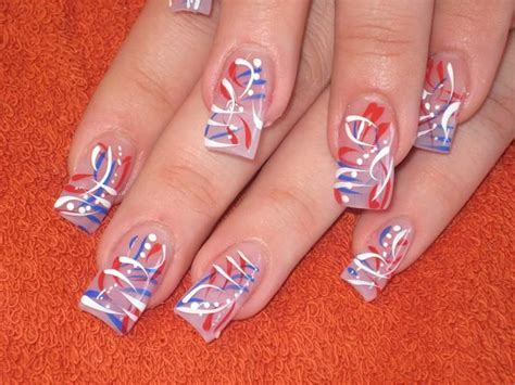 red acrylic 4th of july nils 522 best 4th of july nail art images on pinterest nail
