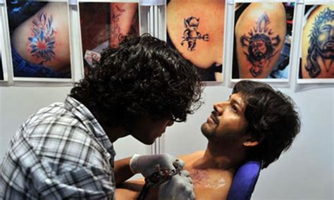 tattoo convention india australian hounded by mob in india for goddess tattoo on