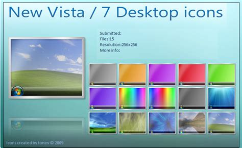 windows 7 vista desktop icons by tonev on deviantart